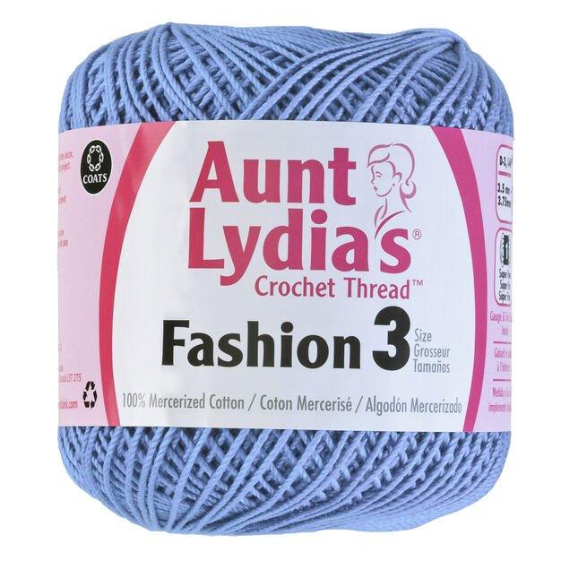 Aunt Lydia Fashion 3 Crochet Thread - Warm Blue