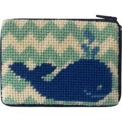 Whale Stitch & Zip Coin Case