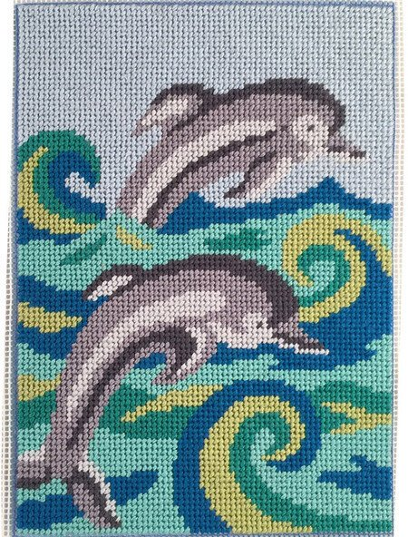 Dolphins Canoodles Needlepoint Kit