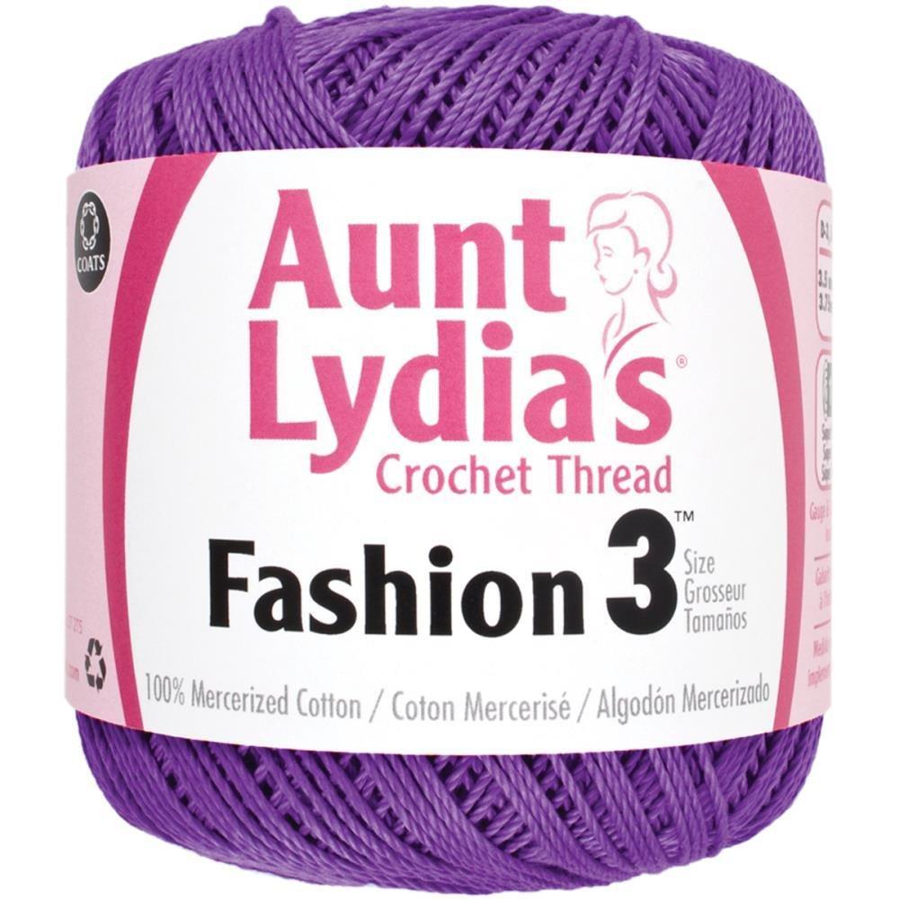 Aunt Lydia Fashion 3 Crochet Thread -  Purple