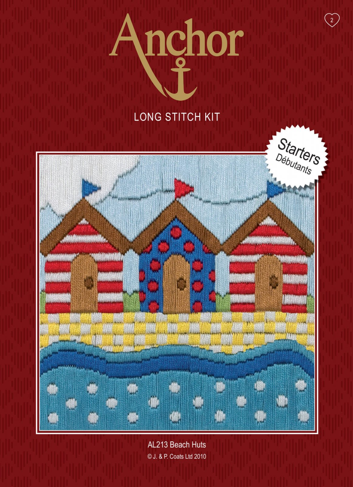Beach Huts Long Stitch Kit