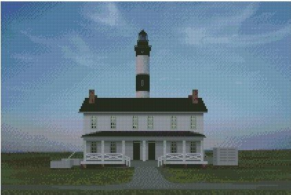 Bodie Island Lighthouse & Visitor Center 10 x 15 Kit