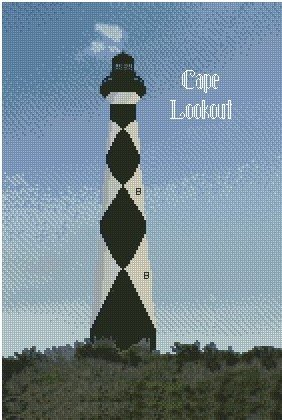 Cape Lookout Lighthouse 10x15 Kit
