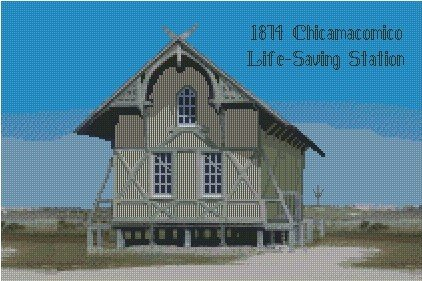 1874 Chicamacomico Life-Saving Station Graph10x15