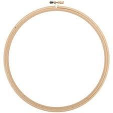 Wood Hoop Emb 9