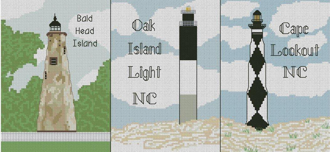 North Carolina Coastal Lighthouses Combo Graphs