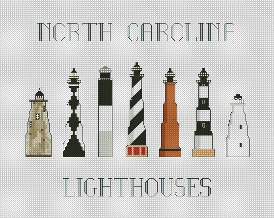 North Carolina Lighthouses 8x10 Graph