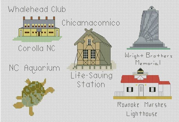 Outer Banks Attractions Ornaments