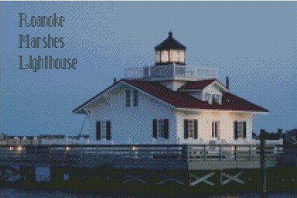 Shoestring - Roanoke Marshes Lighthouse 10 x 15 - Graph
