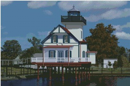 Roanoke River Lighthouse Edenton, NC 10x15 Graph
