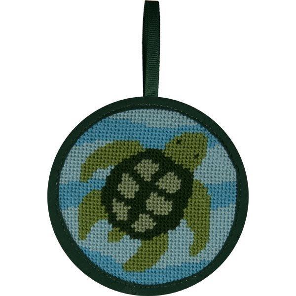 Turtle Stitch-Ups Round Ornament