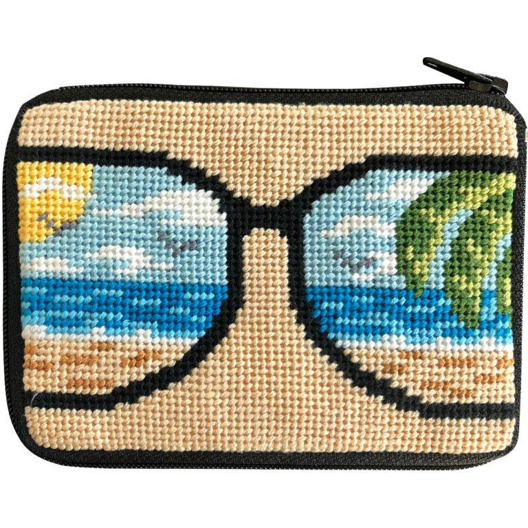 Life's a Beach Stitch & Zip Coin Purse/Credit Card Case