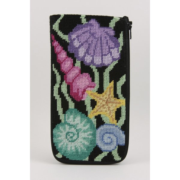 Sea Shells Stitch & Zip Eyeglass/Cell phone case