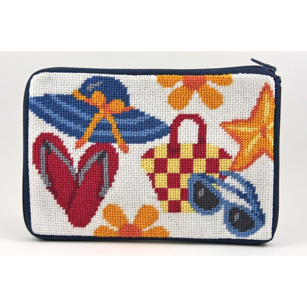 Beach Accessories Stitch & Zip Purse/Cosmetic Case