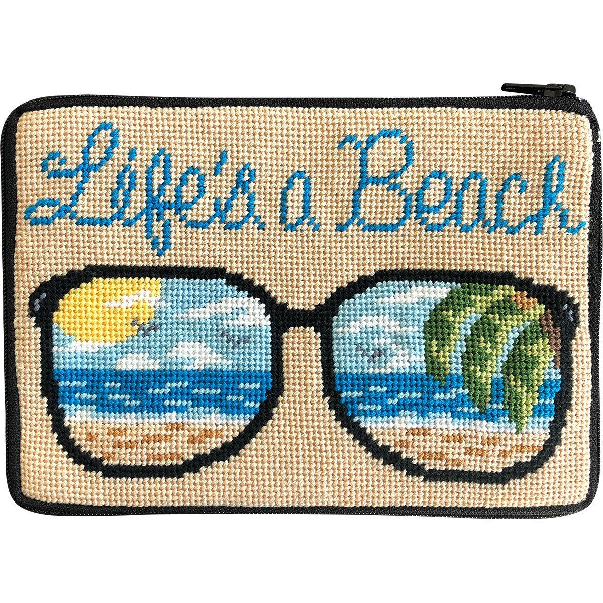 Life's a Beach Stitch & Zip Cosmetic Purse