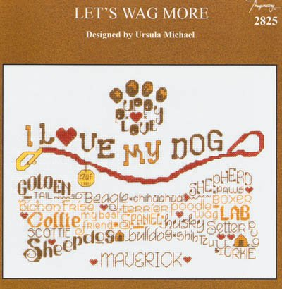 Lets Wag More Cross Stitch Kit