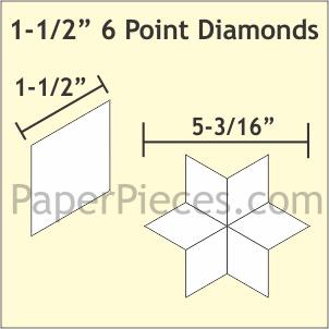 1 1/2 Paper Piece Diamond Pack 450pc