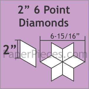 2 6 Point Diamond Paper Pieces 450pc