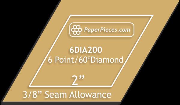 2 6 Point Diamond Acrylic Template