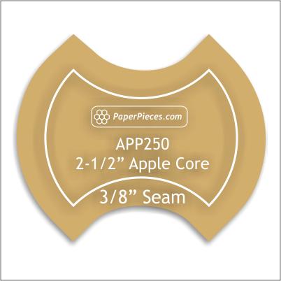 2 1/2  Apple Core Acrylic Template