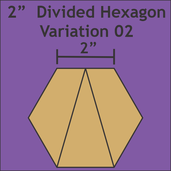 2 Divided Hexagon Variation Makes 72 complete Hexagons