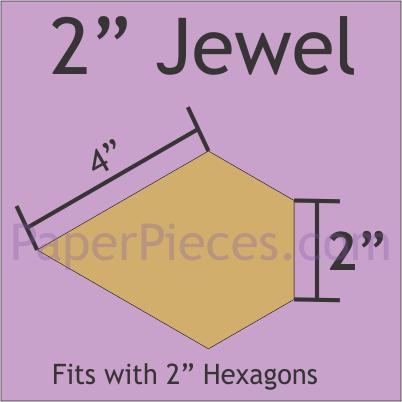 2 Jewel Paper Pieces