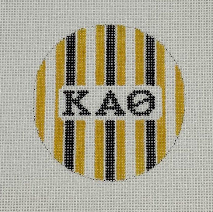 3 round w/stripes-Kappa Alpha Theta