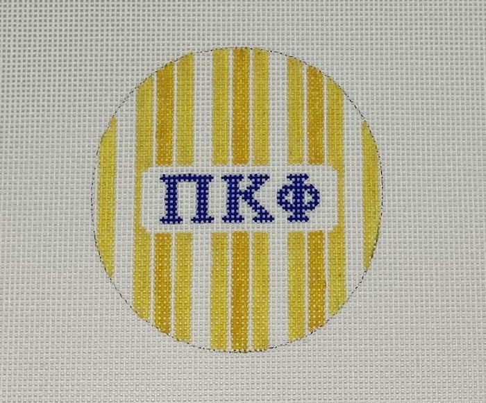 3 round w/stripes-Pi Kappa Phi
