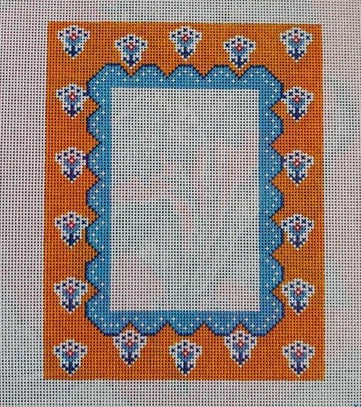 Frames:Orange and Periwinkle 4 x 6 Frame