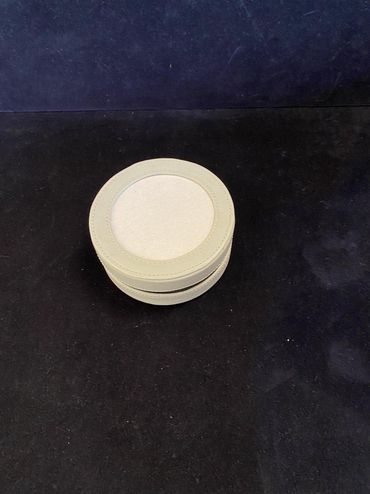 Leather Round Box