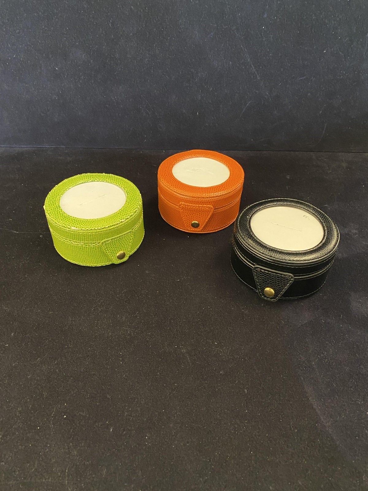 Small Leather Round Box