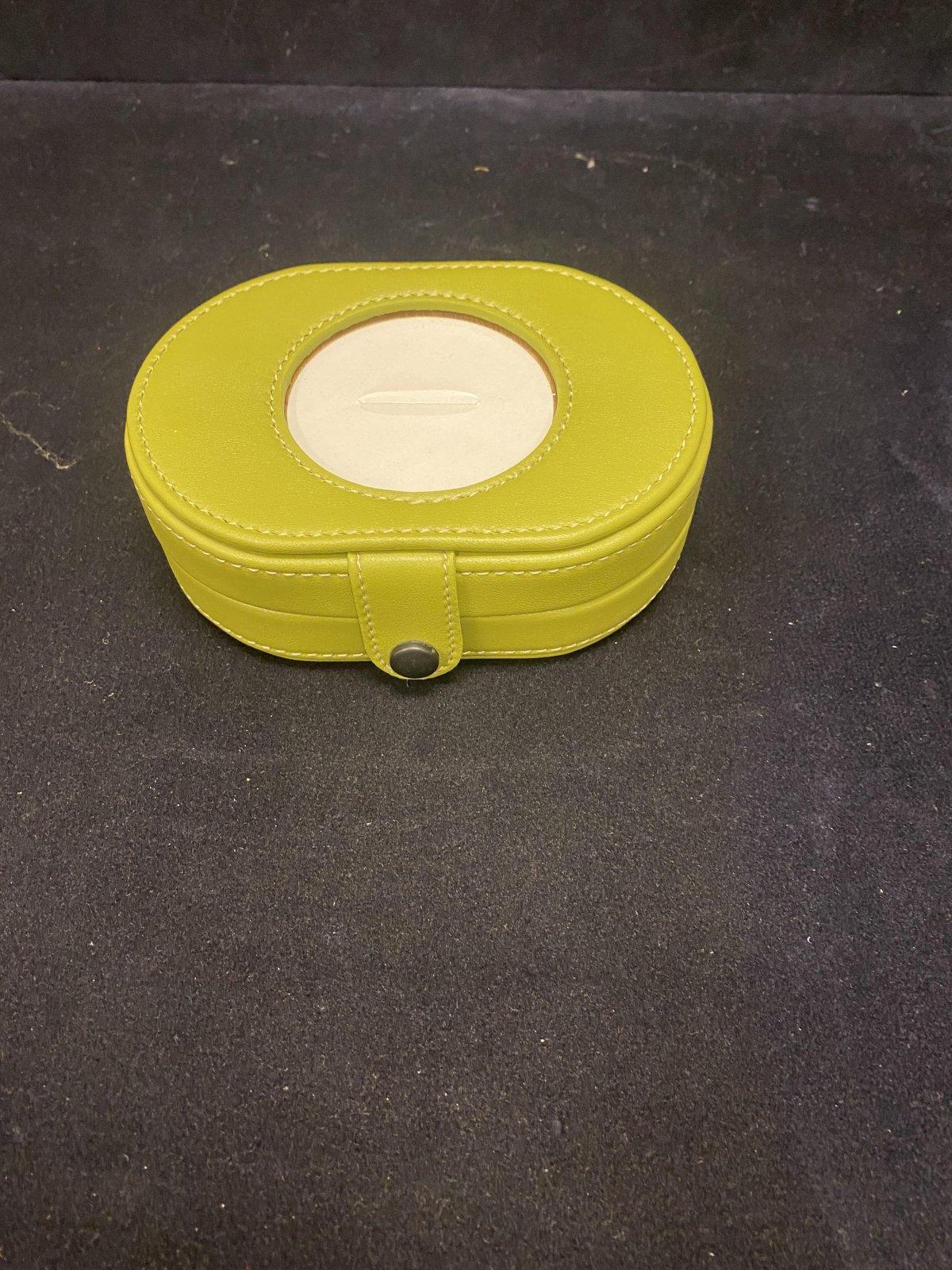 Leather Oval Jewelry Box