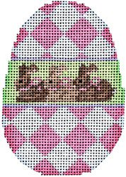 Pink Harlequin/Bunnies Egg