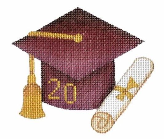Maroon Graduation Cap