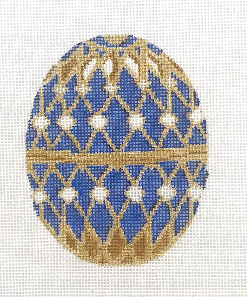 Blue Faberge Egg without the stand
