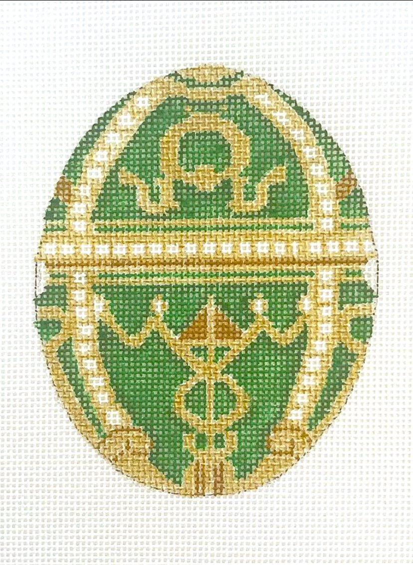 Green Faberge Egg without the stand
