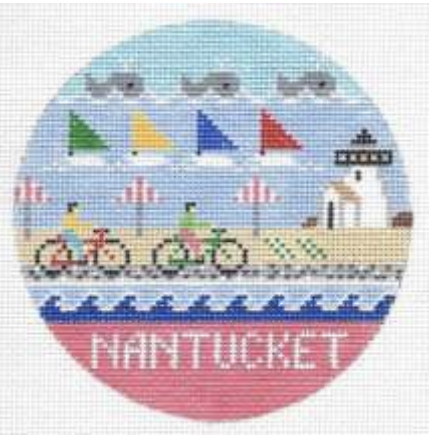 Nantucket Ornament (4.25 in. Round)