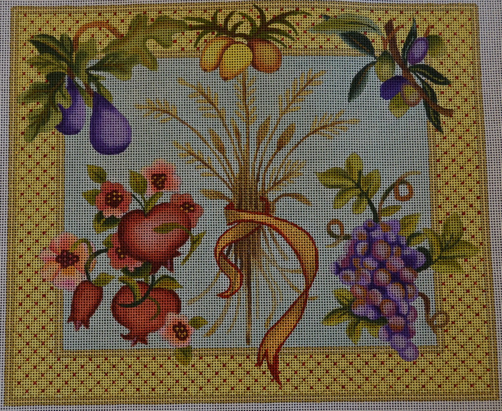 Wheat and Fruit Challah Cover