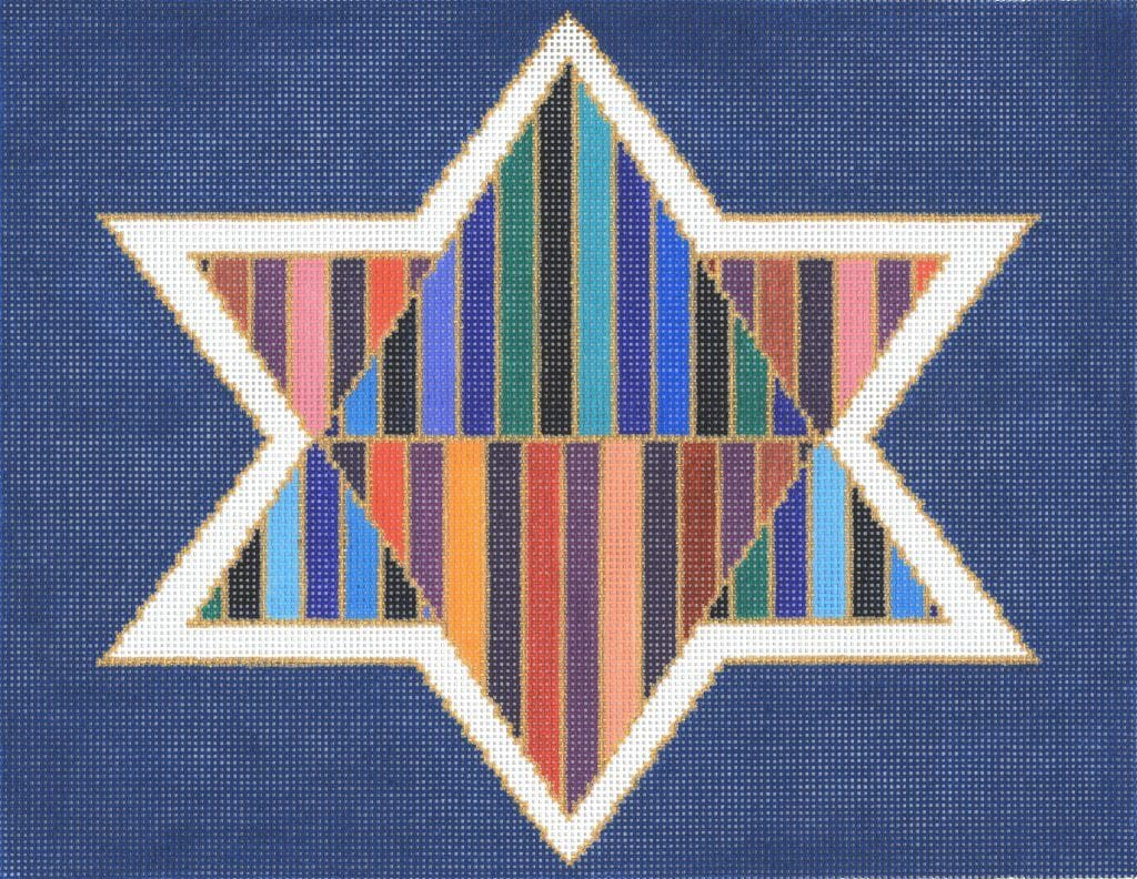 Striped Triangles Star Tallis