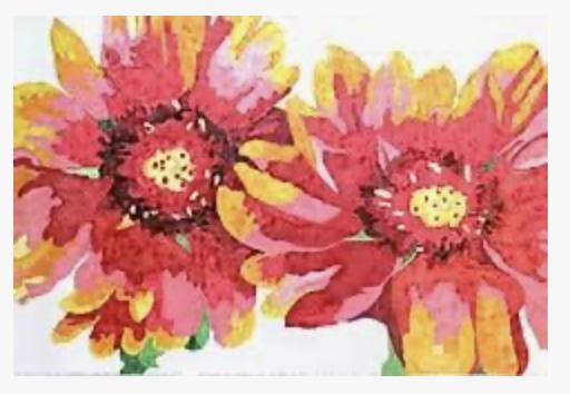 Painter's Blanket Flower Rug