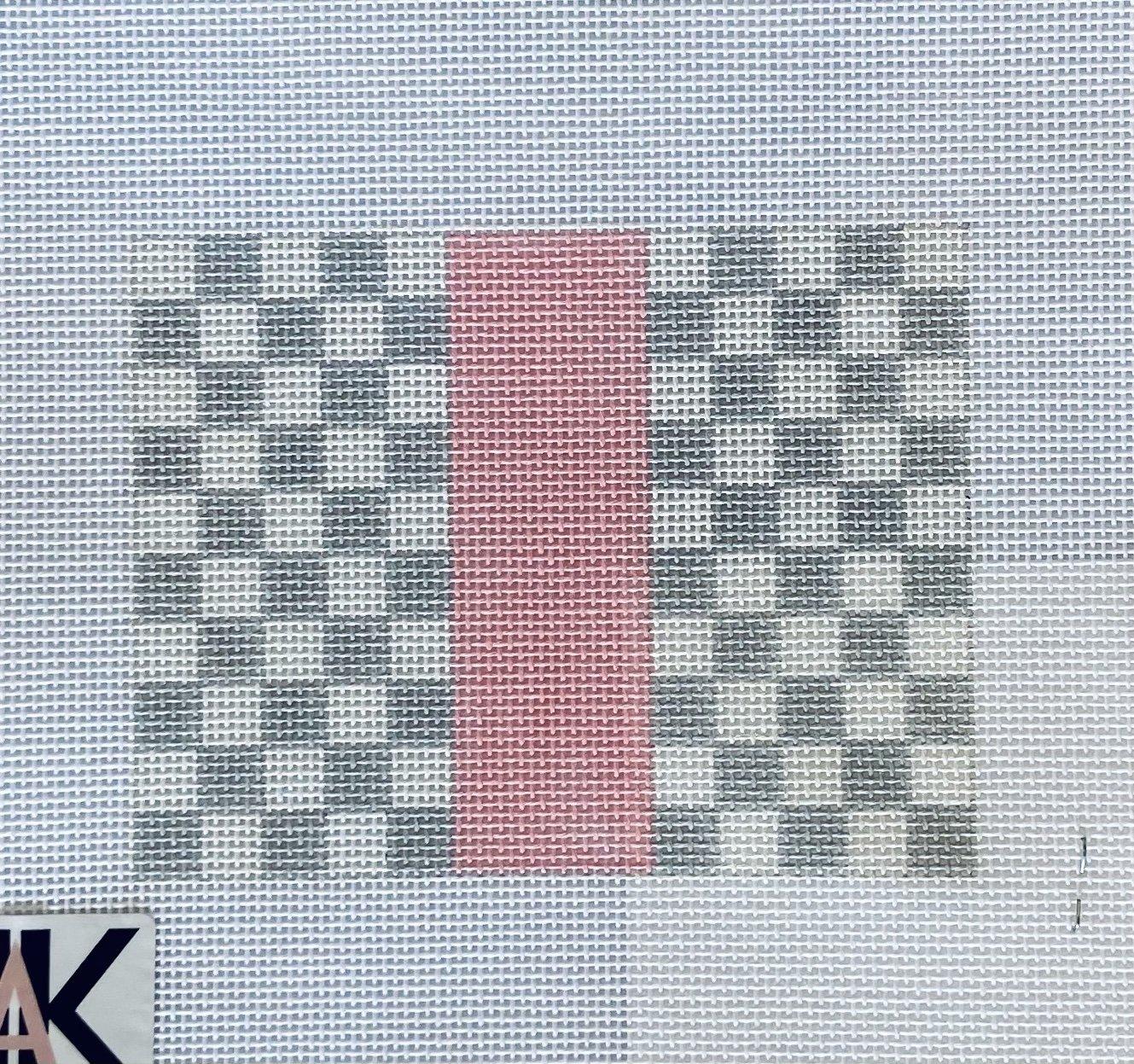 Louis Squares grey w/pink card holder