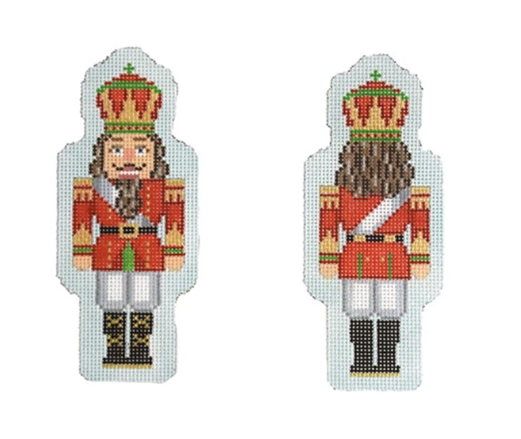 Double Sided Nutcracker Ornament- Red