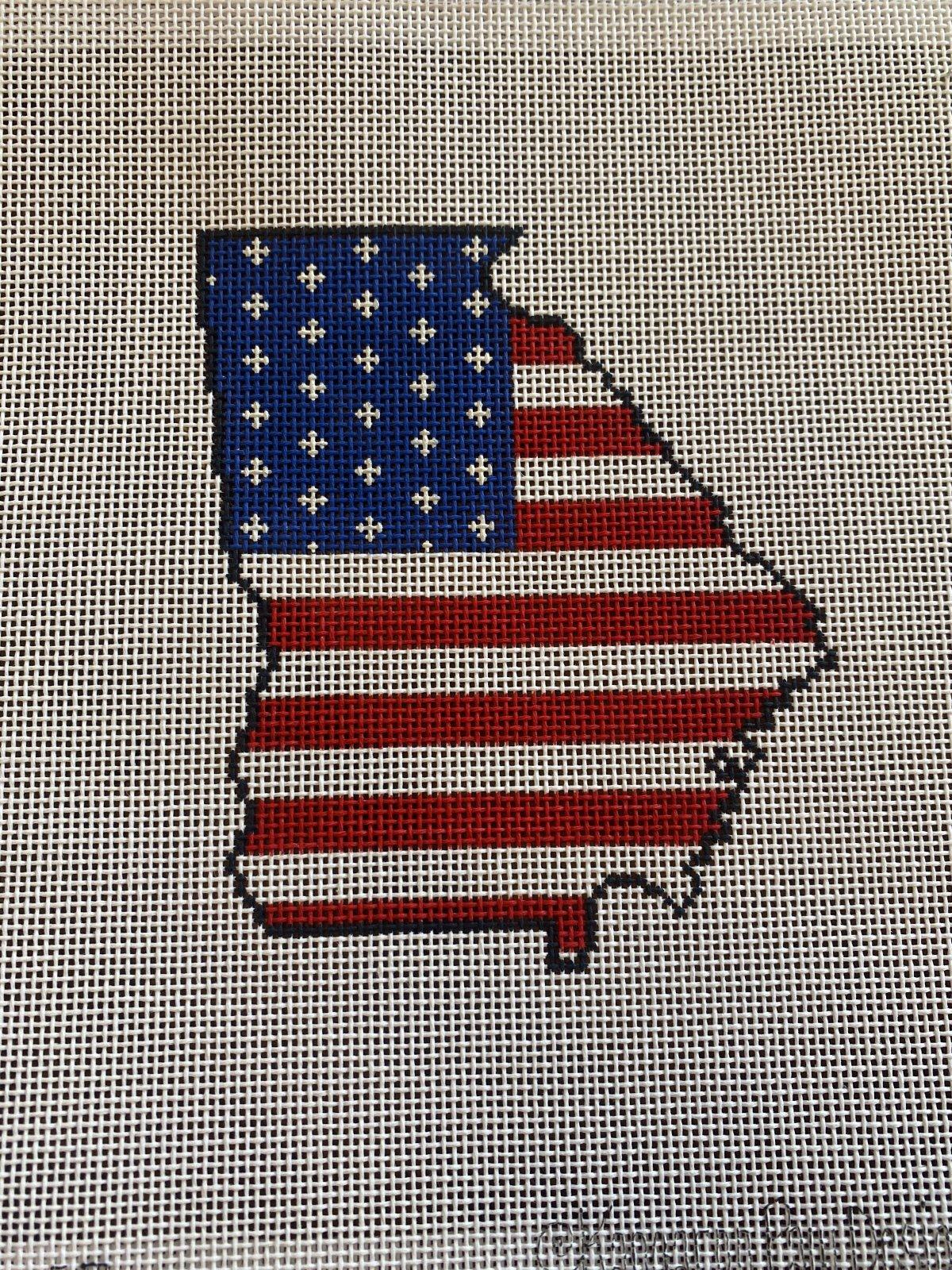 Georgia Outline Starts and Stripes