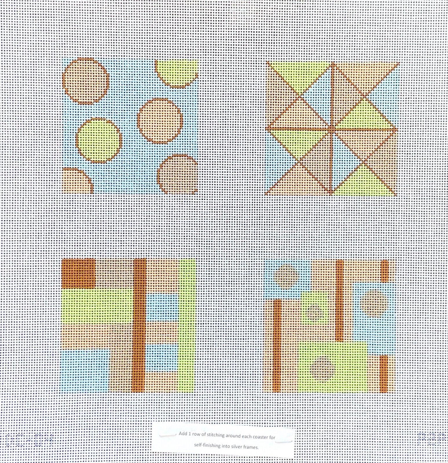 Geometric Coaster Set-Pastels