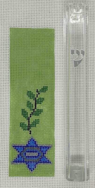 Shin-Vine-Star Mezuzah, includes acrylic holder for self finishing