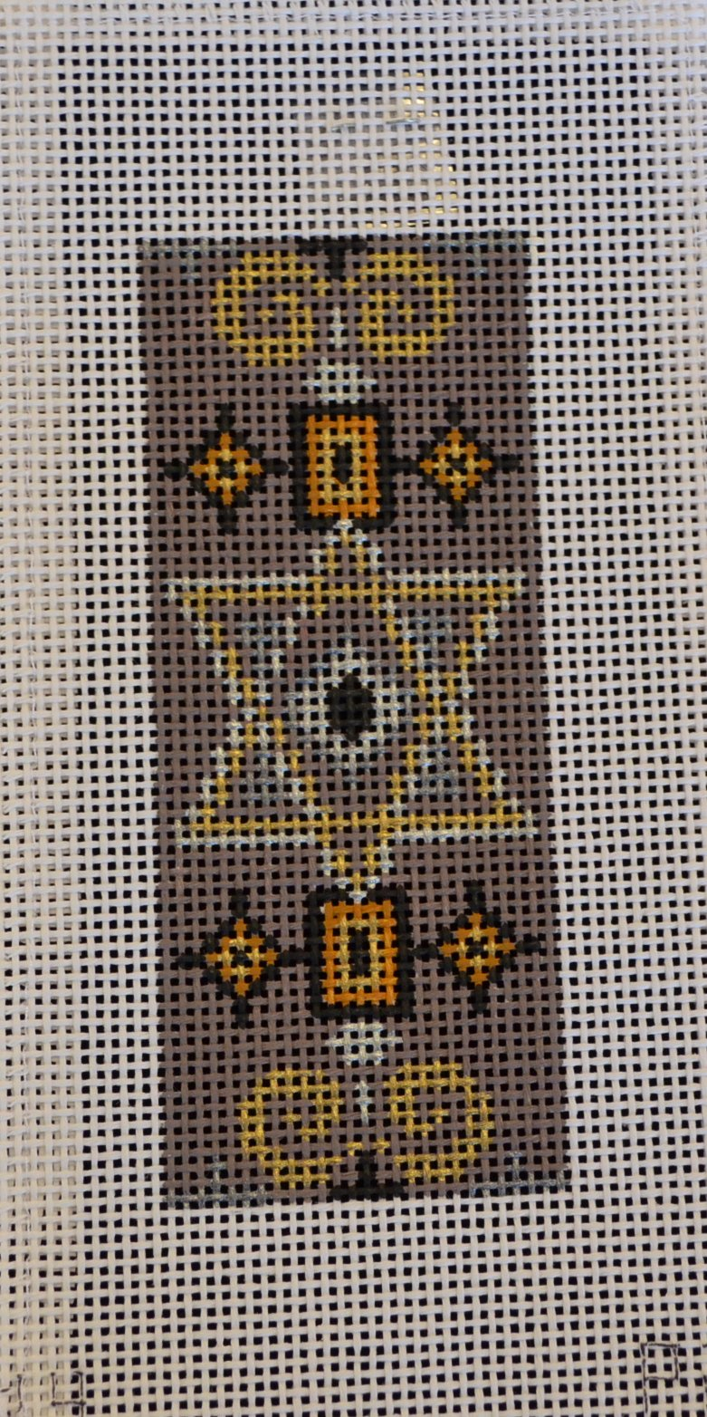Taupe/Gold Star of David Mezuzah 13ct