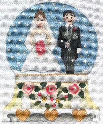Bride and Groom Snow Globe