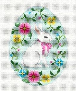 Bunny in Flower Vine Egg