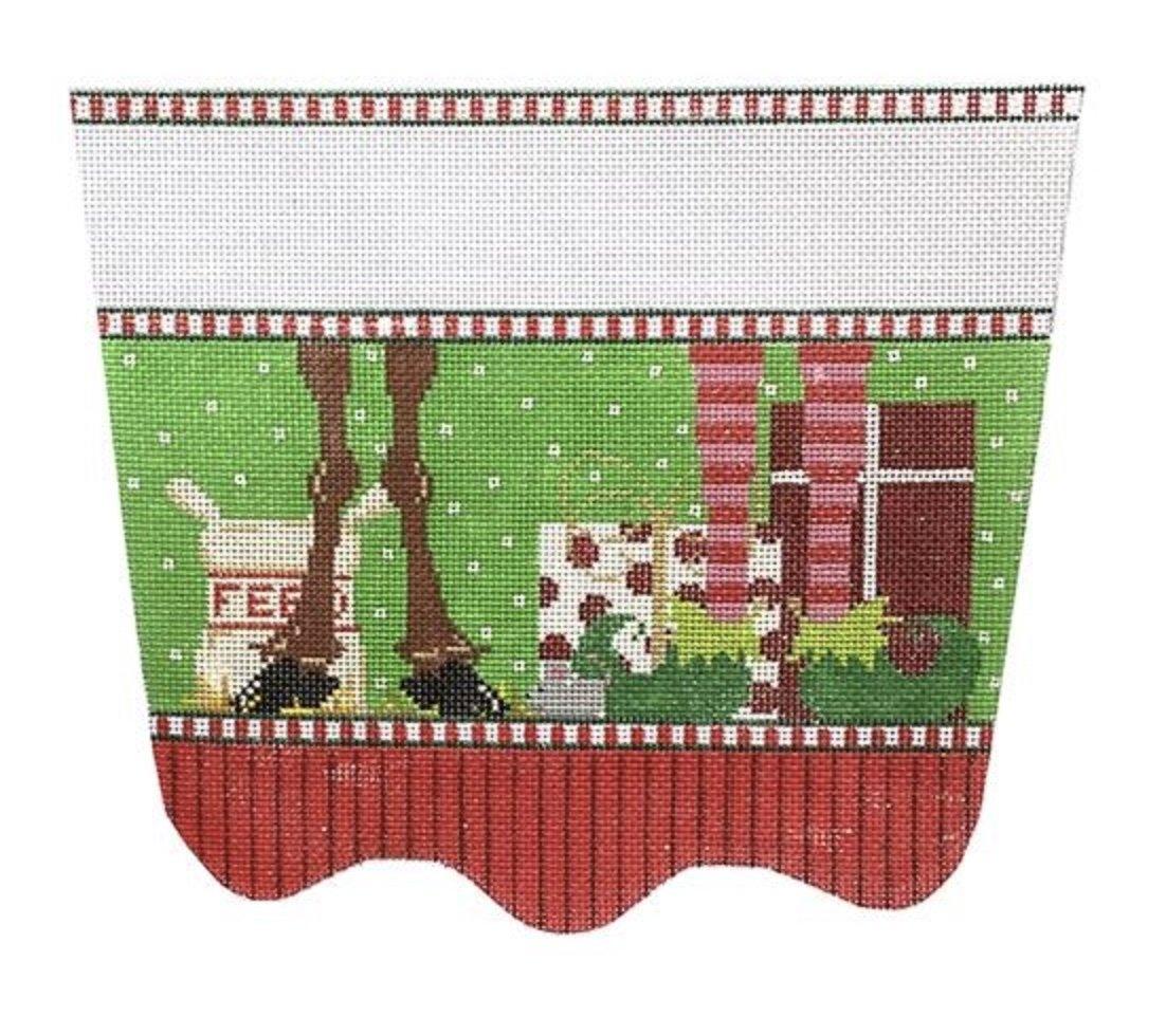 Elf and Reindeer Feet Stocking Cuff