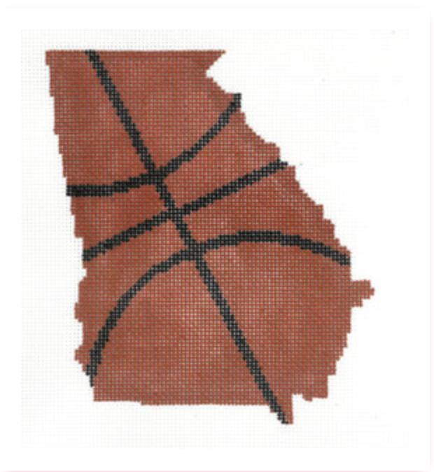 Basketball State Shaped - Georgia